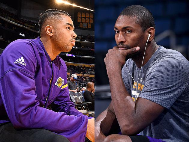 e3eaca014e4 D Angelo Russell and Metta World Peace consider vision boards. (Getty  Images)