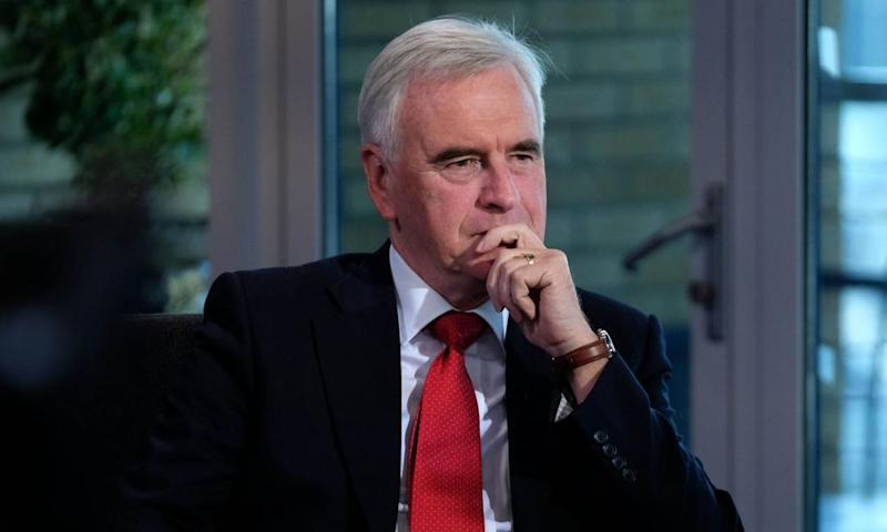 John McDonnell appears on ITV's Peston On Sunday in Brighton. The shadow chancellor is planning new rules on credit card interest.