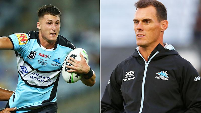 Pictured here, Cronulla Sharks player Bronson Xerri and coach John Morris.