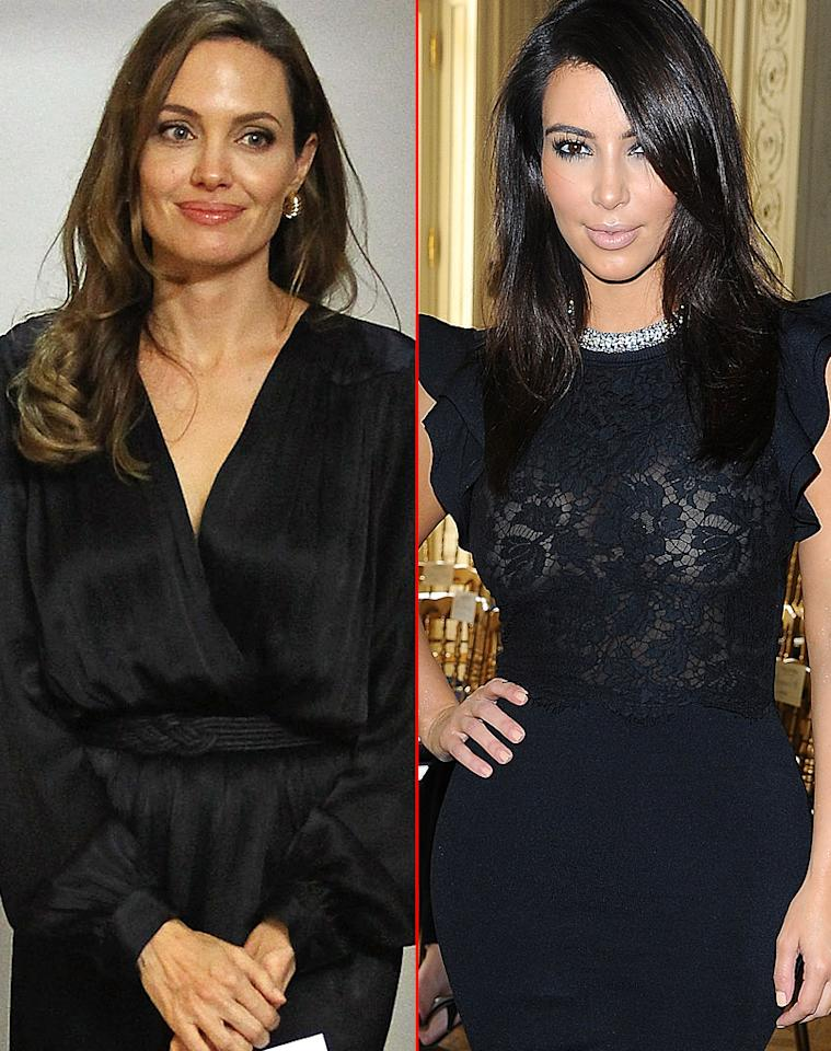 "Angelina Jolie and Kim Kardashian are in a ""celebrity feud,"" reports <i>Star,</i> which reveals the reality star ""incited the wrath"" of Jolie after ""telling friends she's more famous"" than the actress. The mag says Jolie is ""annoyed"" by the comparison to Kardashian, who she feels is ""shallow"" and not in her ""league."" For how their fighting has now escalated, click on <a target=""_blank"" href=""http://www.gossipcop.com/kim-kardashian-feud-angelina-jolie-fight-more-famous/"">Gossip Cop</a>."