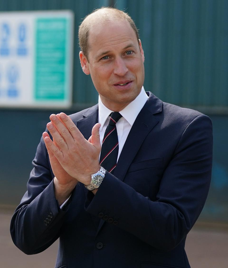 Prince William, the Earl of Strathearn pays a visit to the BAE Systems shipyard