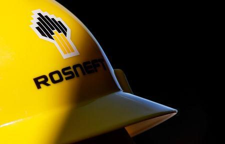 FILE PHOTO - A view shows a helmet with the logo of Rosneft company in Vung Tau, Vietnam April 27, 2018. Picture taken April 27, 2018. REUTERS/Maxim Shemetov