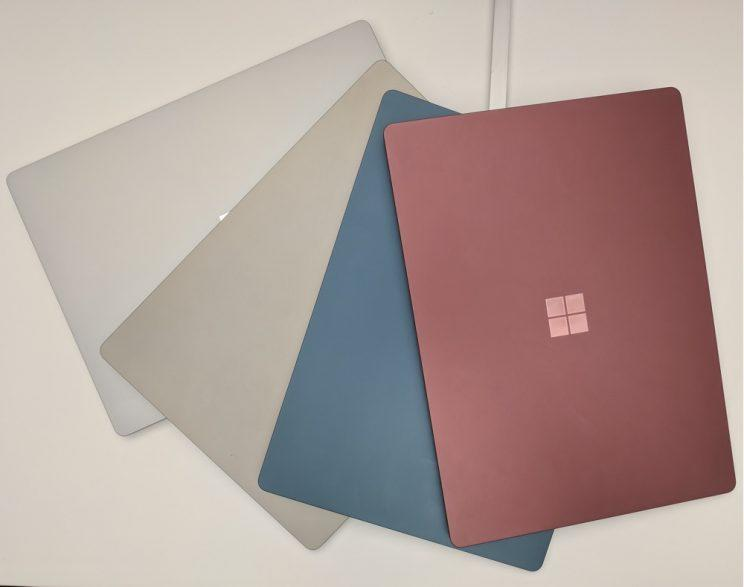 The Surface Laptop's four color options.