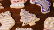 """<p>Back in the 1700s, German settlers in parts of Pennsylvania first introduced the country to traditional <a href=""""https://www.delish.com/holiday-recipes/christmas/g3107/sugar-cookies/"""" rel=""""nofollow noopener"""" target=""""_blank"""" data-ylk=""""slk:sugar cookies"""" class=""""link rapid-noclick-resp"""">sugar cookies</a> — a simple recipe that kicked off the tradition of holiday cookie decorating.</p><p>Get the recipe from <a href=""""https://www.delish.com/cooking/recipe-ideas/recipes/a50502/basic-sugar-cookies-recipe/"""" rel=""""nofollow noopener"""" target=""""_blank"""" data-ylk=""""slk:Delish"""" class=""""link rapid-noclick-resp"""">Delish</a>.</p>"""
