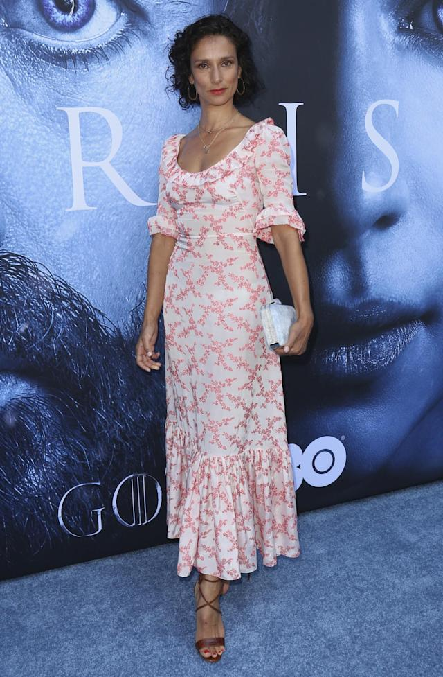 <p>Varma went for a summery printed dress and brown strappy sandals. (Photo: AP) </p>
