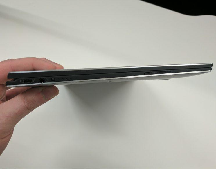Dell XPS 13 2-in-1 side view.