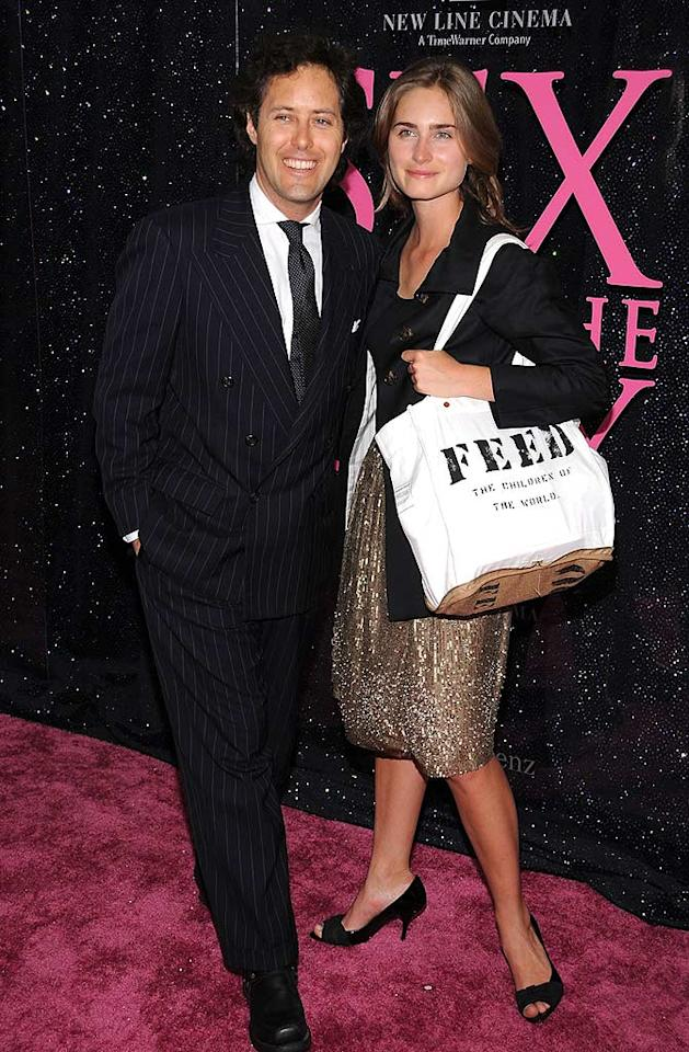 "Model Lauren Bush arrived with her boyfriend David Lauren (son of Ralph Lauren) and her FEED tote bag, which she designed as an honorary spokesperson for the UN World Food Program. It's not the prettiest evening bag, but we applaud her efforts. Dimitrios Kambouris/<a href=""http://www.wireimage.com"" target=""new"">WireImage.com</a> - May 27, 2008"