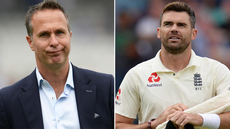 Michael Vaughan (pictured left) and James Anderson (pictured right). (Getty Images)