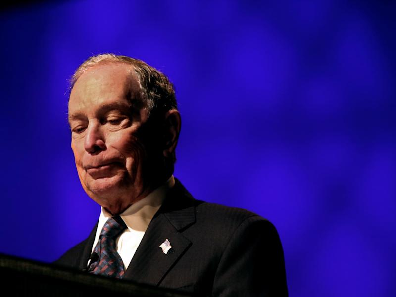 Michael Bloomberg offers an apology for Stop and Frisk at the Christian Cultural Center in Brooklyn: Getty Images