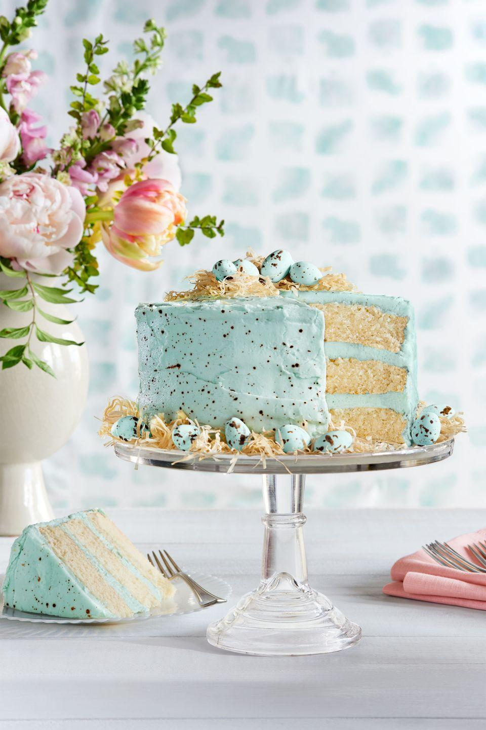 "<p>This cake is one of the most popular desserts we've ever made. </p><p><strong><a href=""https://www.countryliving.com/food-drinks/recipes/a37729/speckled-malted-coconut-cake-recipe/"" rel=""nofollow noopener"" target=""_blank"" data-ylk=""slk:Get the recipe"" class=""link rapid-noclick-resp"">Get the recipe</a>.</strong></p>"