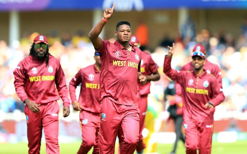 West Indies fast bowler Oshane Thomas - PA