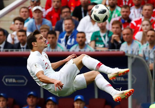 Soccer Football - World Cup - Group B - Portugal vs Morocco - Luzhniki Stadium, Moscow, Russia - June 20, 2018 Portugal's Cedric Soares in action REUTERS/Axel Schmidt