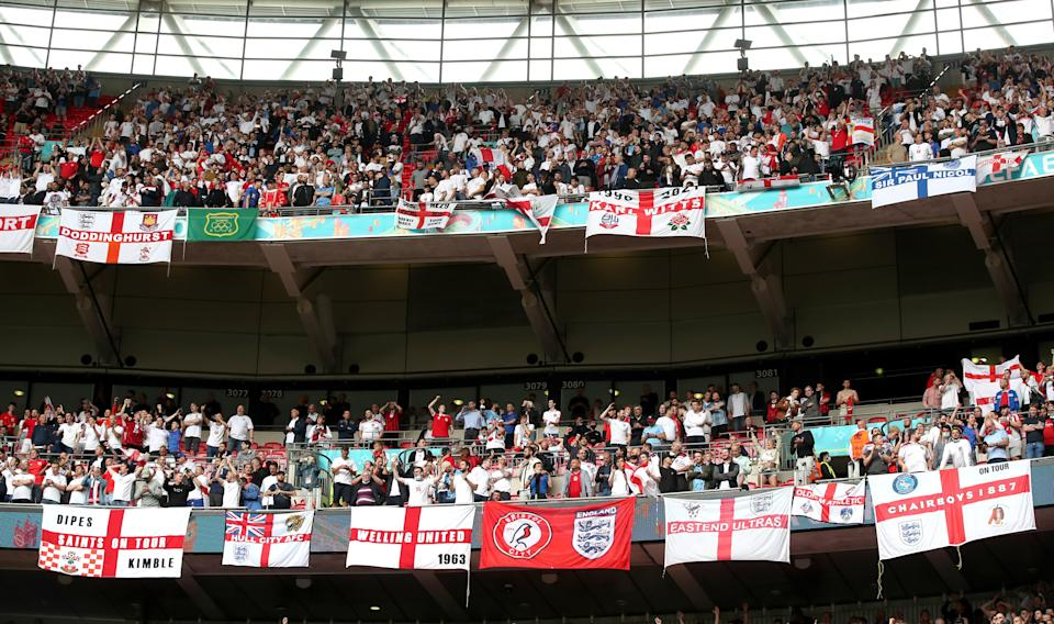 UEFA is planning to allow 60,000 fans to attend the final of Euro 2020. (PA)