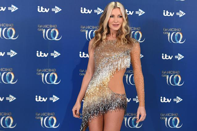 Caprice Bourret during the Dancing On Ice 2019 photocall at ITV Studios on December 09, 2019 in London, England. (Photo by Stuart C. Wilson/Getty Images)