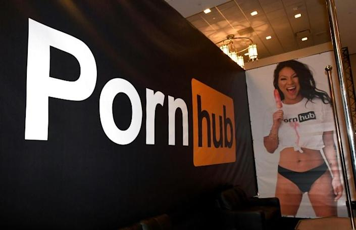 PornHub began accepting cryptocurrency payments in 2018 after temporary bans from payment processors (AFP/Ethan Miller)