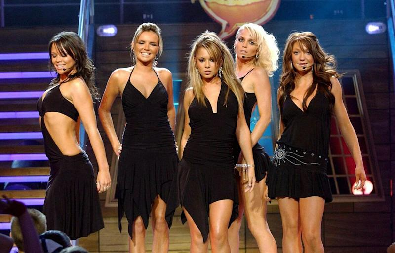Girls Aloud onstage during the Disney Channel Kids Awards 2004, held at the Royal Albert Hall, central London.