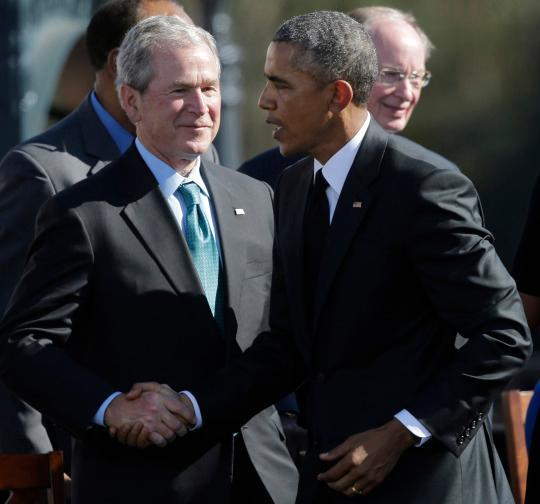 George W. Bush criticizes Barack Obama's anti-terrorism ...