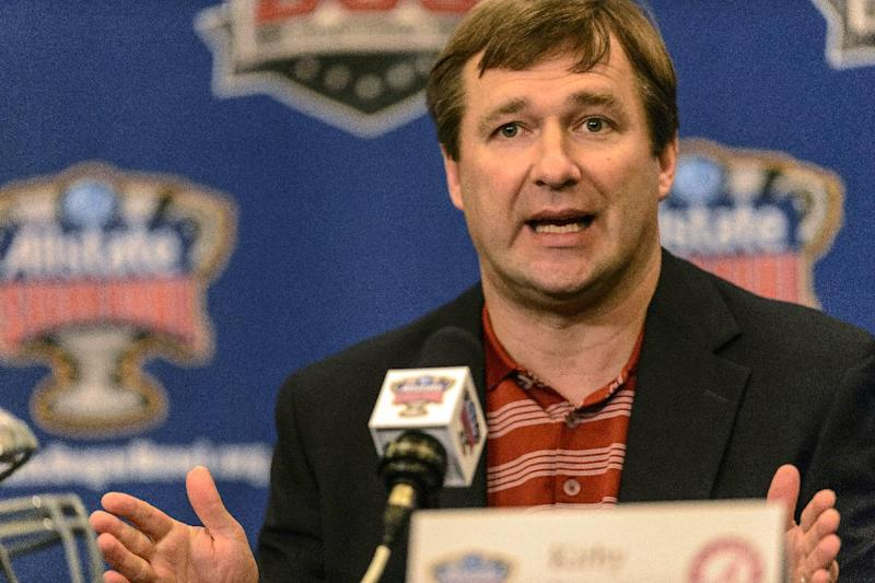 Alabama defensive coordinator/linebackers coach Kirby Smart talks about NCAA college football Sugar Bowl prep as Alabama's defensive representatives meet with the media, Monday, Dec. 30, 2013, in New Orleans. Alabama and Oklahoma face off in the Sugar Bowl, on Jan. 2, 2014