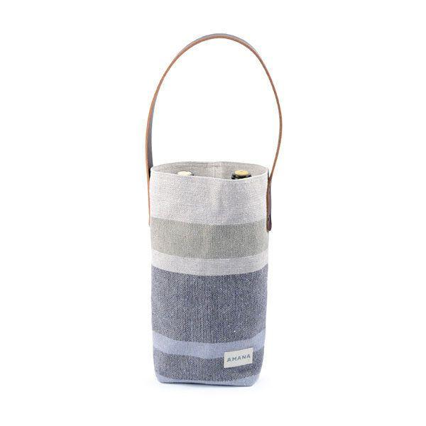 "For the wine connoisseur who cares about giving back. Get it at <a href=""https://www.ahalife.com/product/149000052037/eco2-wine-tote"" target=""_blank"">Ahalife</a>."