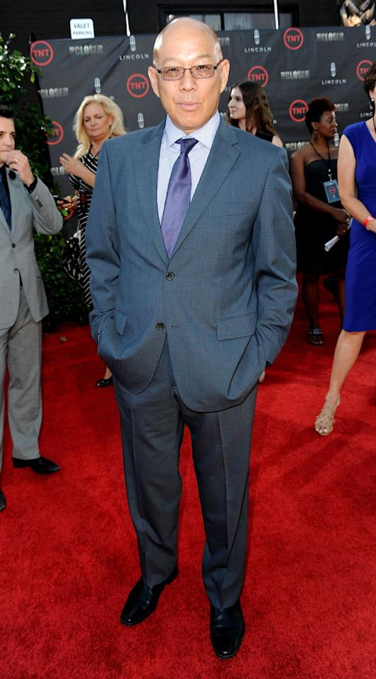 """Michael Paul Chan attends the special fan screening of TNT's """"The Closer"""" series finale held at The Roosevelt Hotel on August 7, 2012 in Hollywood, California."""