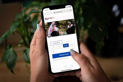 Give Lively's Simple Widget on Malala Fund's website is built with mobile-first design and features that allow donors to get through the donation process as seamlessly as possible.