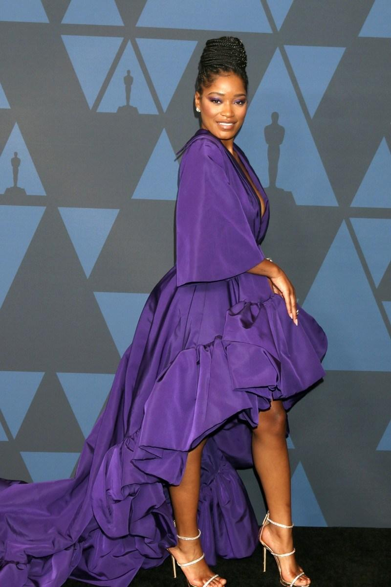 Keke Palmer wears purple dress at the 11th Annual Governors Awards in 2019