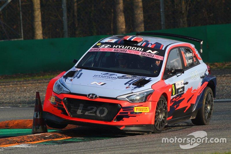 "Andreas Mikkelsen, Jaeger Anders, Hyundai i20, Monza Rally Show<span class=""copyright"">Monza Rally Show</span>"