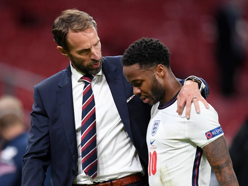 England manager Gareth Southgate and Raheem Sterling (Getty Images)