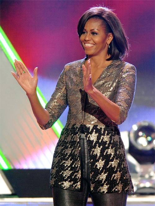 <b>Nickelodeon 25th Annual Kids' Choice Awards, March 2012</b><br><br>Michelle showed she can dress for any audience when she attended the Nick event with her daughter Malia. At almost 50, she rocked metallic skinny jeans by Helmut Lang, a sequined v-neck top by Wes Gordon and black pointy-toes pumps.<br><br>Coolest mum ever?