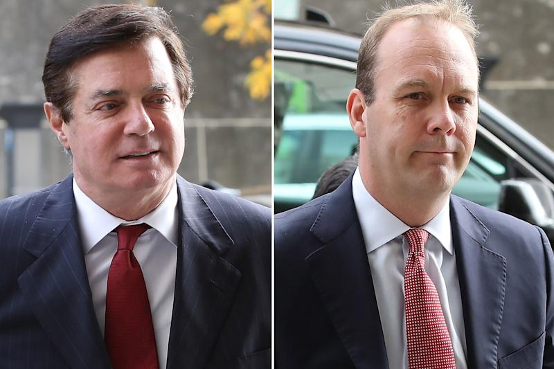 Paul Manafort and Rick Gates, who were business partners, also worked together on the Trump presidential campaign.