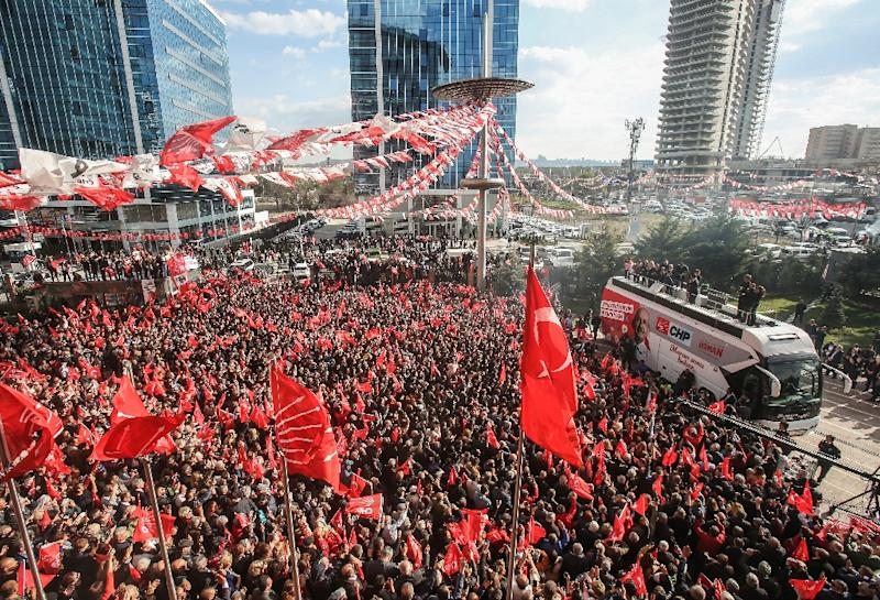 Turkey's main opposition Republican People's Party (CHP) already won the election for mayor of the capital Ankara (AFP Photo/Adem ALTAN)