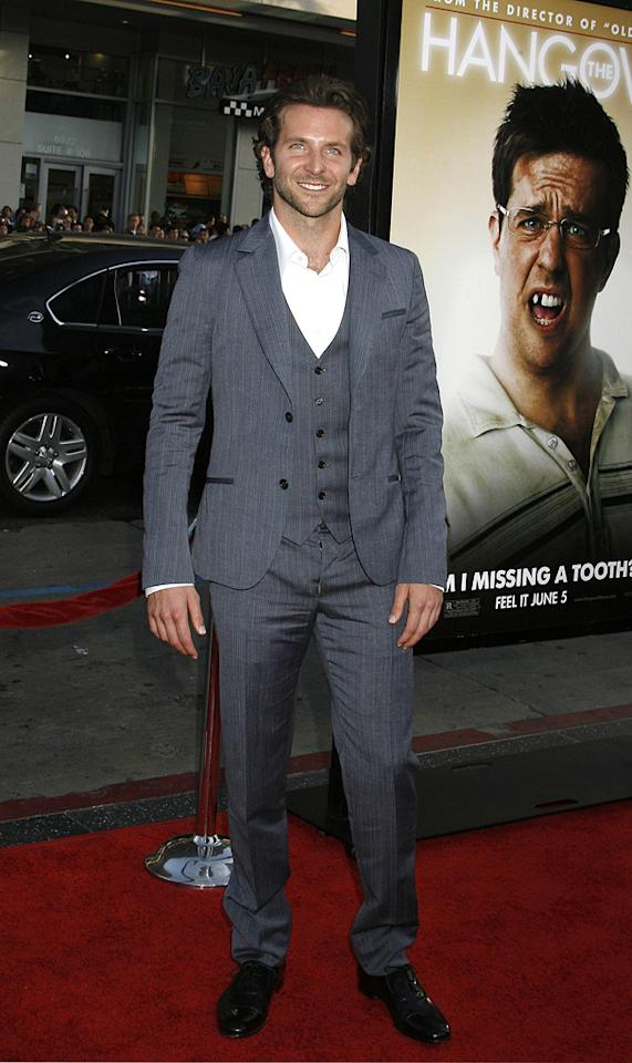 """<a href=""""http://movies.yahoo.com/movie/contributor/1804751131"""">Bradley Cooper</a> at the Los Angeles premiere of <a href=""""http://movies.yahoo.com/movie/1810044687/info"""">The Hangover</a> - 06/02/2009"""