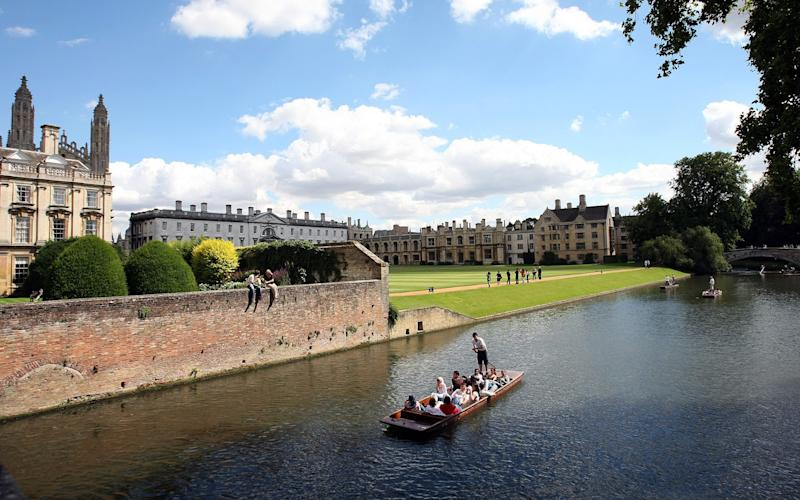 The wide-beam punt, measuring 1.4 metres by 6.5 metres, would sell alcohol to tourists and locals in the summer months if the application is approved by Cambridge City Council - Christopher Pledger