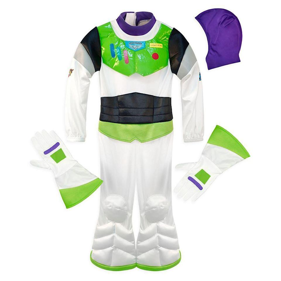 """<p>This costume will take kids to infinity and beyond — or just around the block. It's made of stretchy fabric that opens at the back, and a flap opening in the black front panel for tube access.</p><p><strong>RELATED:</strong> <a href=""""https://www.goodhousekeeping.com/holidays/halloween-ideas/g28380986/best-toy-story-halloween-costumes/"""" rel=""""nofollow noopener"""" target=""""_blank"""" data-ylk=""""slk:The Best DIY 'Toy Story' Costumes — and Some to Buy, Too!"""" class=""""link rapid-noclick-resp"""">The Best DIY 'Toy Story' Costumes — and Some to Buy, Too!</a></p><p><a class=""""link rapid-noclick-resp"""" href=""""https://go.redirectingat.com?id=74968X1596630&url=https%3A%2F%2Fwww.shopdisney.com%2Fbuzz-lightyear-adaptive-costume-for-kids-2890041618649M.html&sref=https%3A%2F%2Fwww.goodhousekeeping.com%2Fholidays%2Fhalloween-ideas%2Fg33632924%2Fadaptive-wheelchair-halloween-costumes%2F"""" rel=""""nofollow noopener"""" target=""""_blank"""" data-ylk=""""slk:SHOP NOW"""">SHOP NOW</a></p>"""