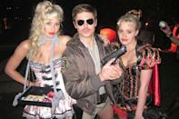 <p>As <em>Reno 911!</em>'s Lt. Dangle, alongside the sisters in corseted ensembles.</p>