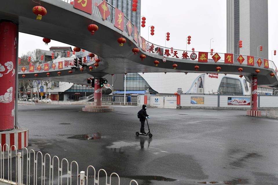 Busy places in Wuhan were nearly deserted at the start of the pandemic. (Reuters)