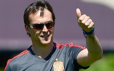 <span>Julen Lopetegui has been appointed Real Madrid manager</span> <span>Credit: AFP </span>