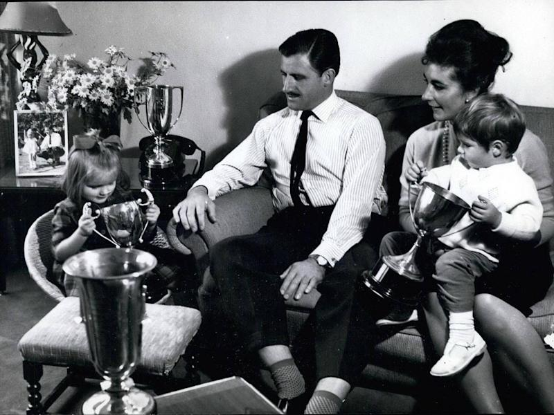 Bette and Graham Hill with their children Brigitte and Damon in 1968 (Alamy)