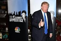 "Trump attends a red carpet event for his ""Celebrity Apprentice"" show in February 2015 in New York, before he ran for president"