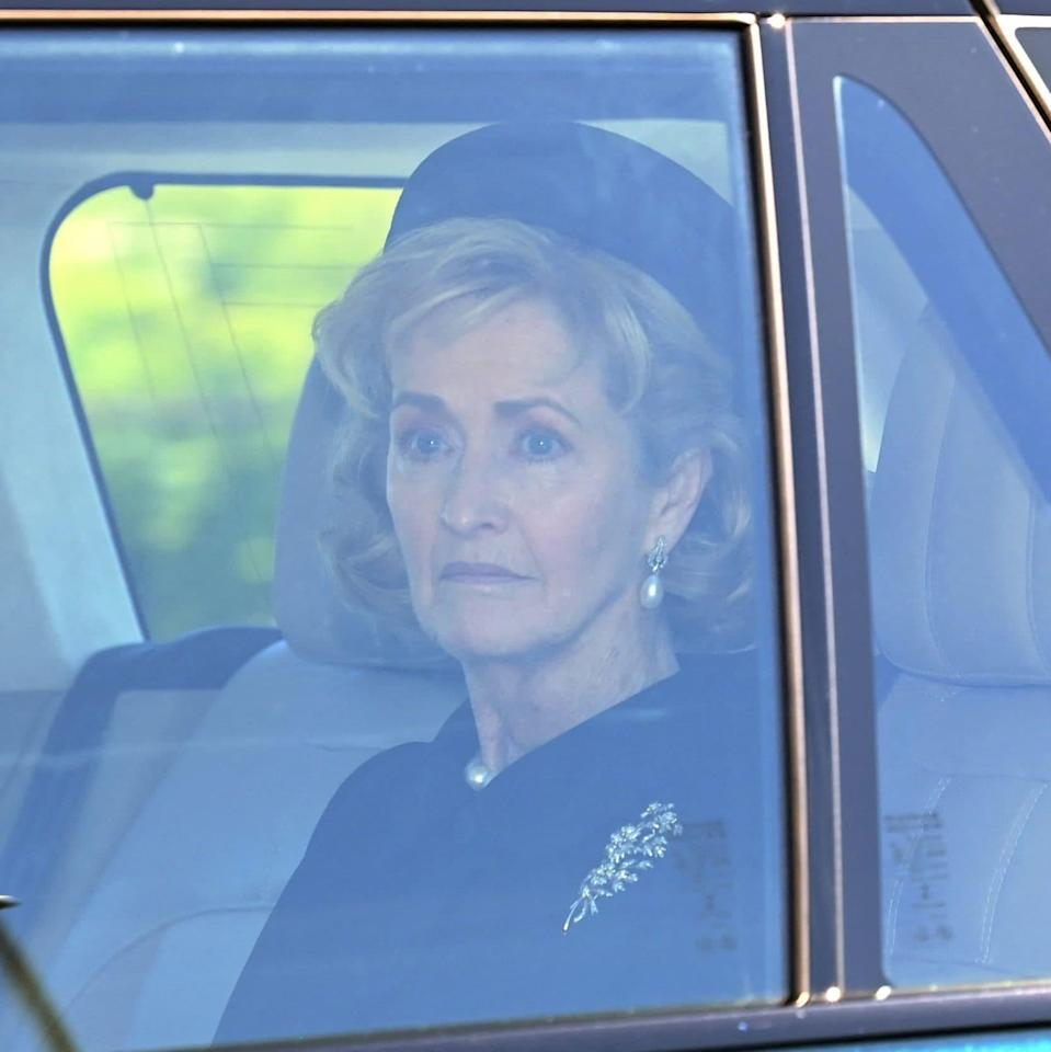 Penny Brabourne, Countess Mountbatten of Burma arrives for the funeral service - GLYN KIRK/AFP via Getty Images