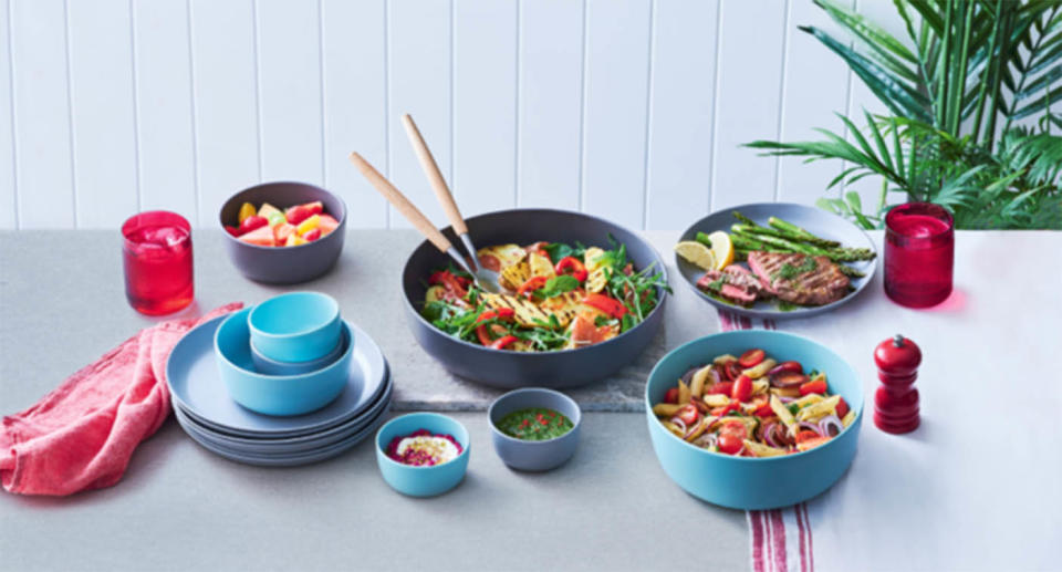 The new Coles picnicware promotion has sparked criticism online. Source: Coles
