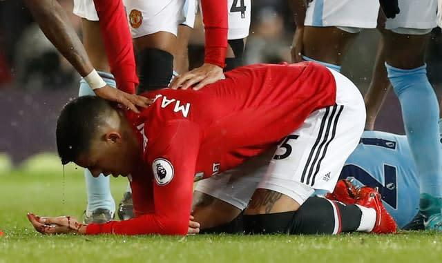 Rojo's time at Old Trafford has been plagued by injury (Martin Rickett/PA)
