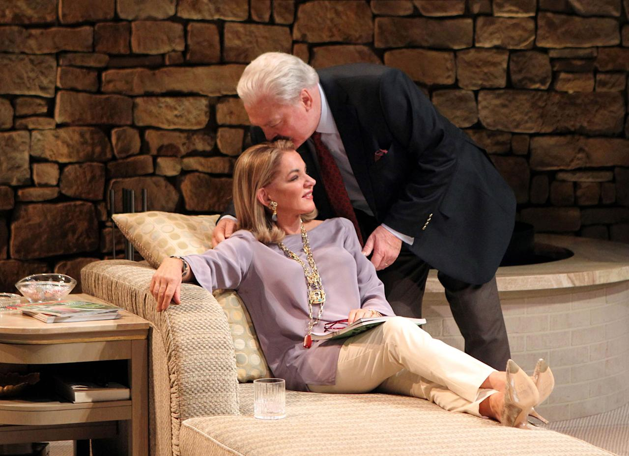 "In this image released by Philip Rinaldi Publicity, Stockard Channing, left, and Stacy Keach are shown in a scene from ""Other Desert Cities,"" at the Booth Theatre in New York. Channing was nominated for a Tony Award for best actress in a play, Tuesday, May 1, 2012, for her role in ""Other Desert Cities."" The Tony Awards will be broadcast live from the Beacon Theatre on CBS, Sunday, June 10. (AP Photo/Philip Rinaldi Publicity, Joan Marcus)"