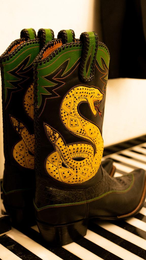 The Bode boots worn by Leon Bridges.  - Credit: Courtesy of Eric Lagg
