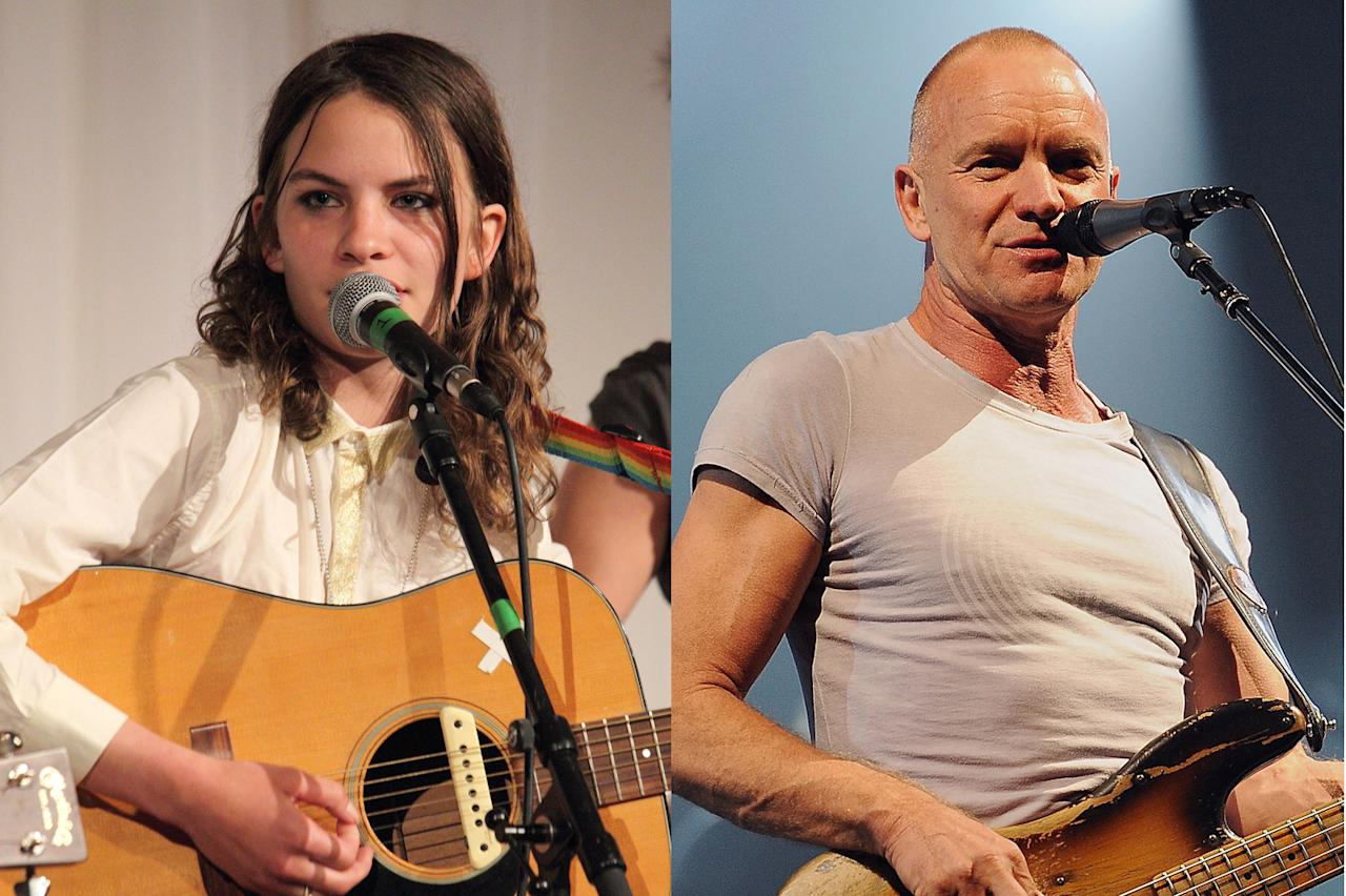 Eliot Sumner and Sting