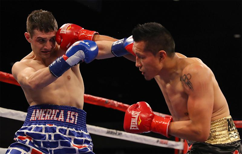 Mexico's Francisco Vargas pummels opponent wearing 'America 1st' trunks into submission