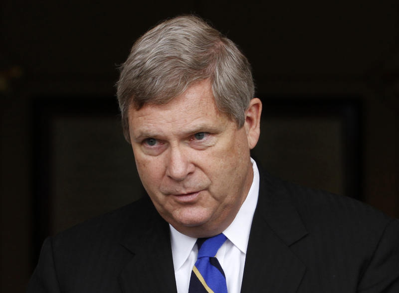 FILE - In this May 23, 2012 file photo, Agriculture Secretary Tom Vilsack speaks in Richmond, Va. Vilsack is pressing the Republican-led House to vote on a long-term farm policy bill. He says in an Associated Press interview that failure to act on the measure could leave livestock producers exposed to disasters and other farmers uncertain about the future.  (AP Photo/Steve Helber, File)
