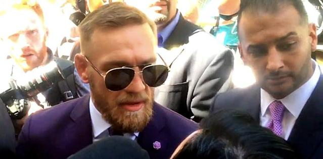 Conor McGregor and manager Audie Attar