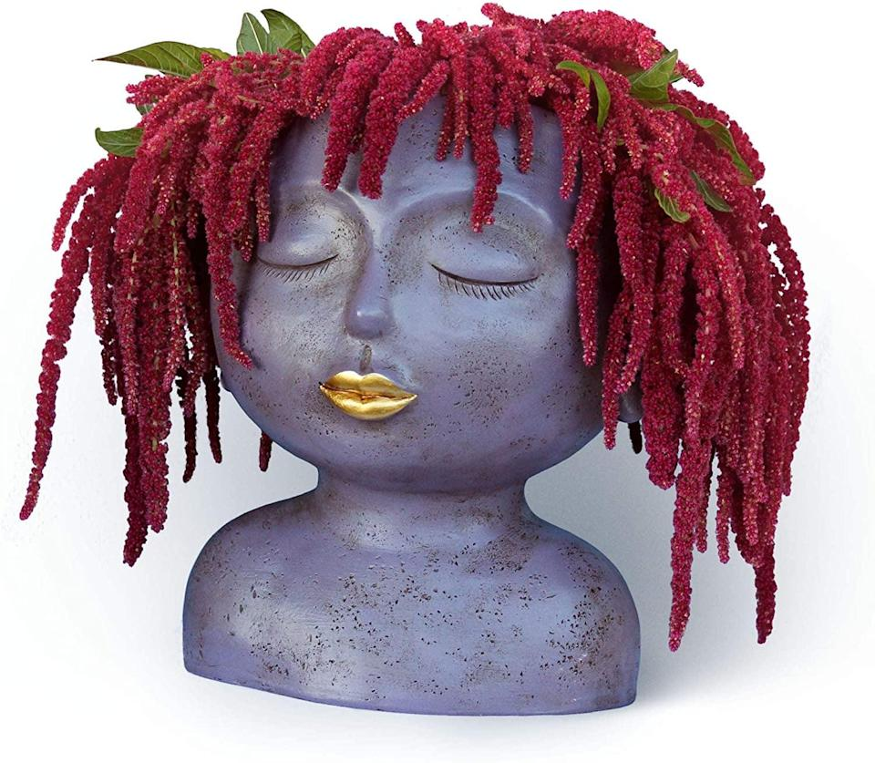 <p>Get creative with this <span> Cute Zen Face Planter</span> ($49). Your plants can act as hair to the fabulous bust.</p>