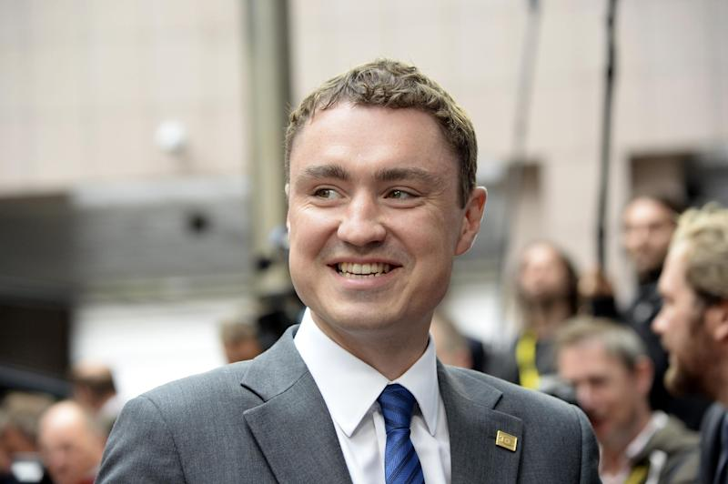 Estonia's Prime Minister Taavi Roivas pictured arriving at a European Union summit in Brussels, August 30, 2014 (AFP Photo/Thierry Charlier)